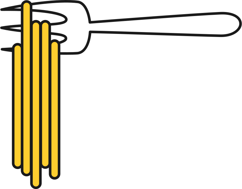 style fork with noodles Vector images in PNG and SVG | Icons8 Illustrations