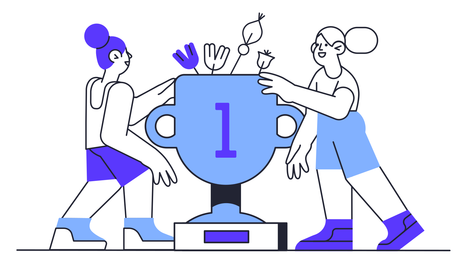 Team victory Clipart illustration in PNG, SVG
