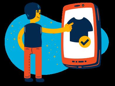Иллюстрация Покупка в интернете в стиле  в PNG и SVG   Icons8 Иллюстрации