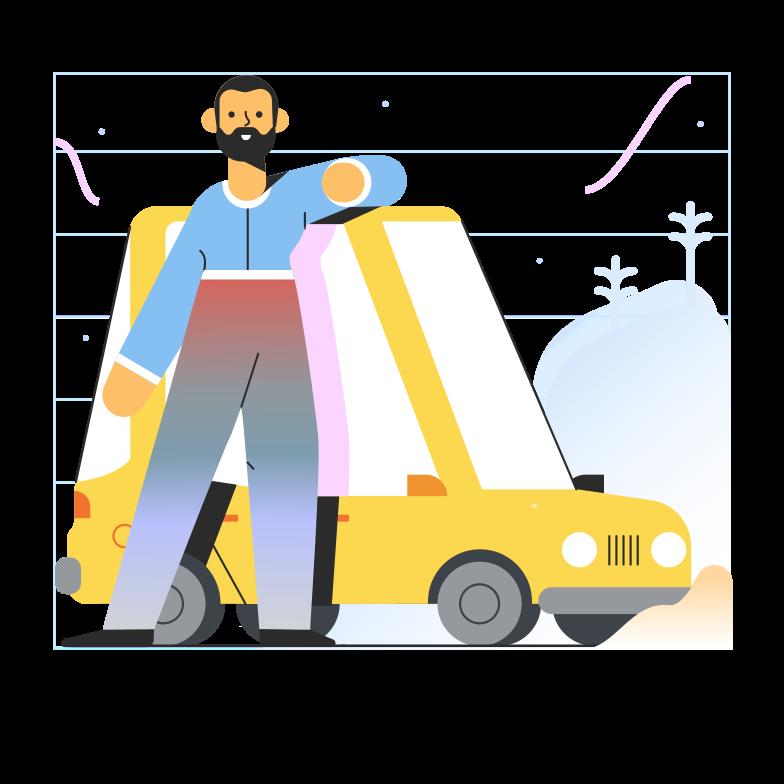 Ilustración de clipart de alquiler de coches en PNG, SVG