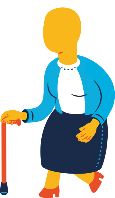 style old woman walking images in PNG and SVG | Icons8 Illustrations