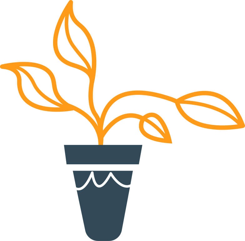 plant in the pot Clipart illustration in PNG, SVG