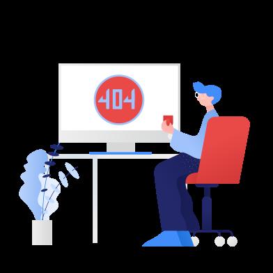 Иллюстрация Ошибка 404 в стиле  в PNG и SVG | Icons8 Иллюстрации