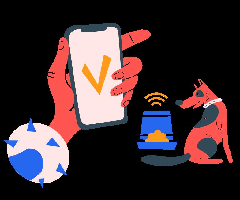 スマートペットフィーダー のPNG、SVGクリップアートイラスト