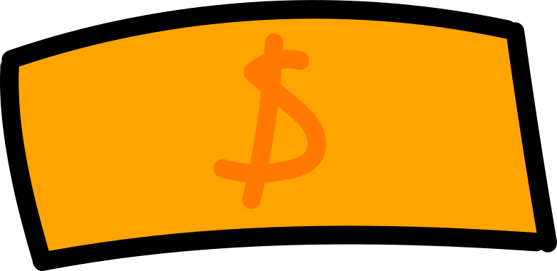 banknote money Clipart illustration in PNG, SVG