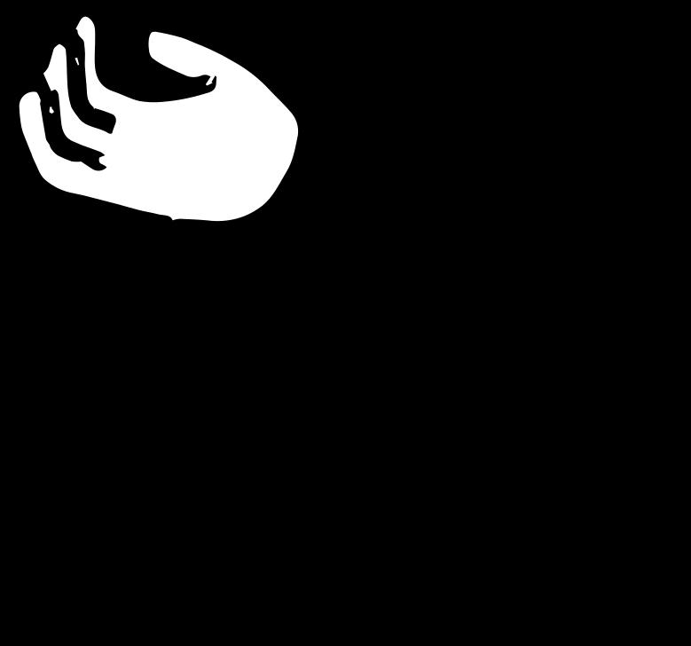 Hand links Clipart-Grafik als PNG, SVG
