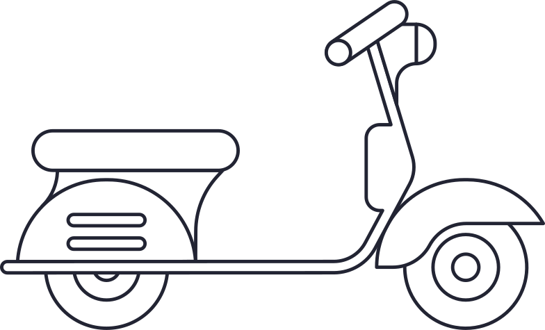 delivery  motorcycle Clipart illustration in PNG, SVG
