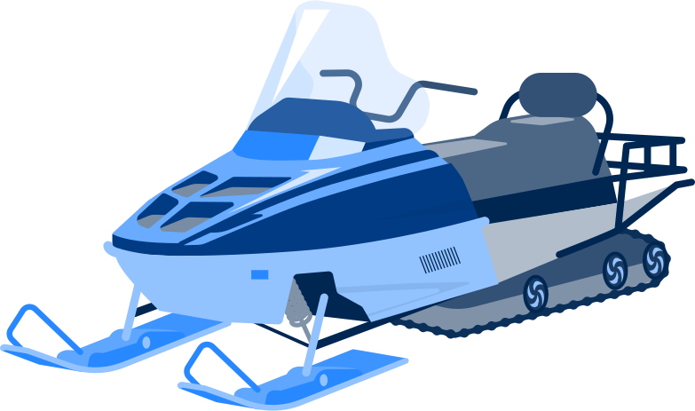 snowmobile Clipart illustration in PNG, SVG