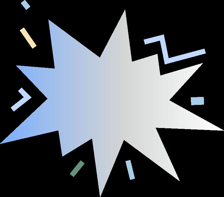 Ilustração de clipart de gradient blops em PNG e SVG