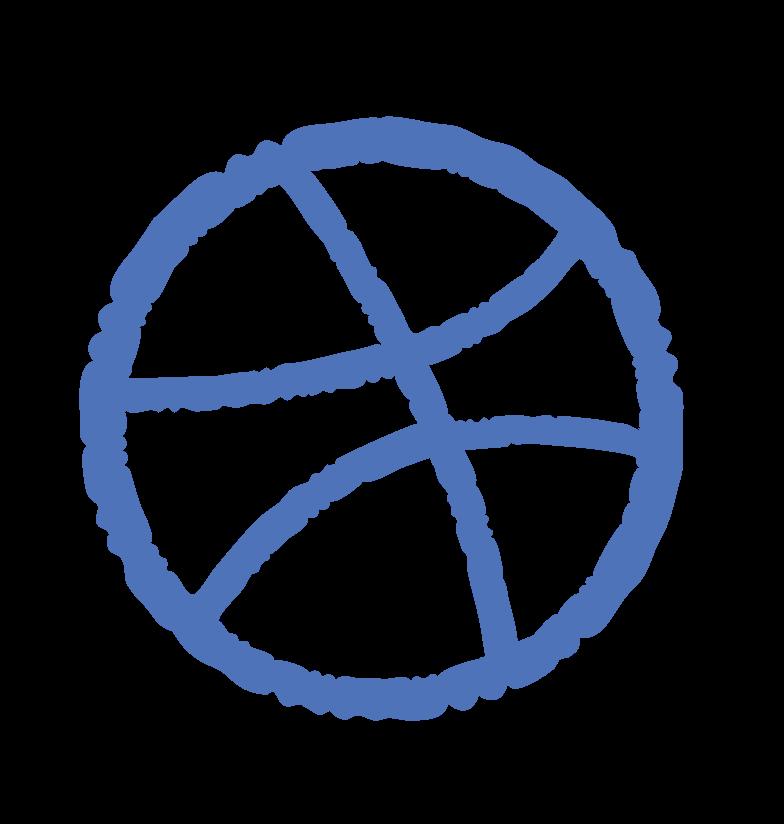 dribbble logo Clipart illustration in PNG, SVG