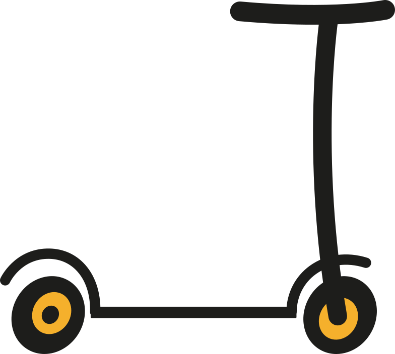 scooter Clipart illustration in PNG, SVG
