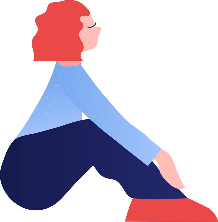 Ilustración de clipart de Niña sentada en PNG, SVG