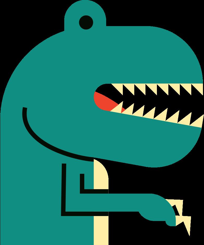 teranosaurus Clipart illustration in PNG, SVG