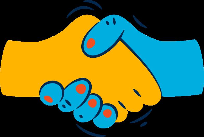 Illustration clipart handshake aux formats PNG, SVG
