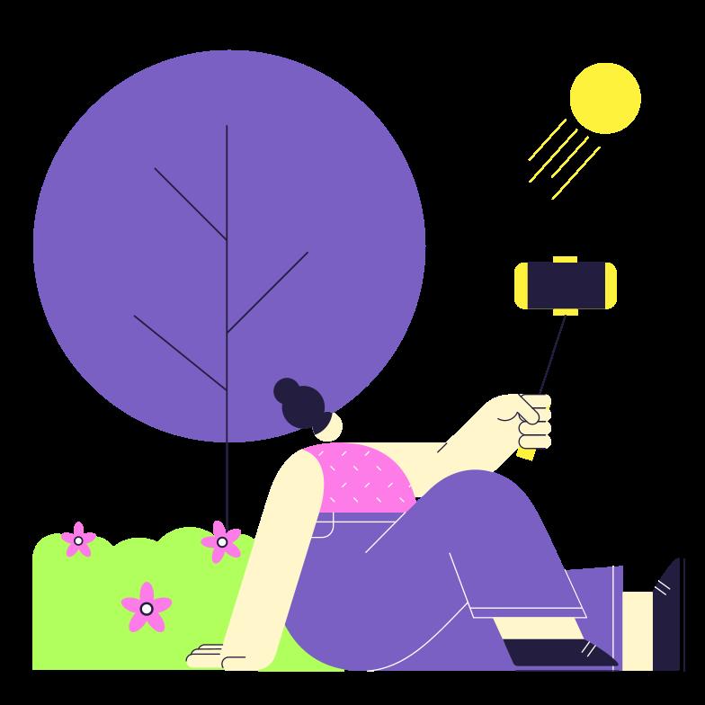 Selfie Clipart illustration in PNG, SVG