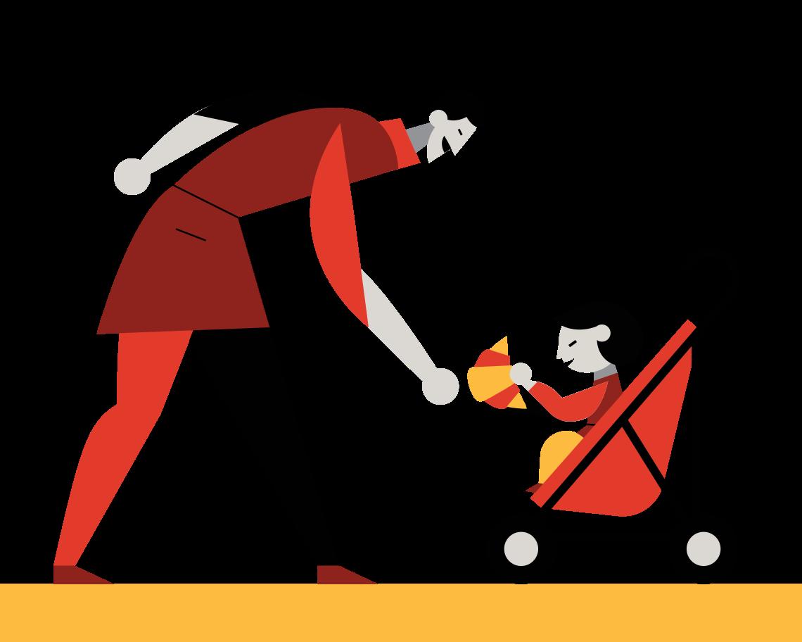 Childcare Clipart illustration in PNG, SVG