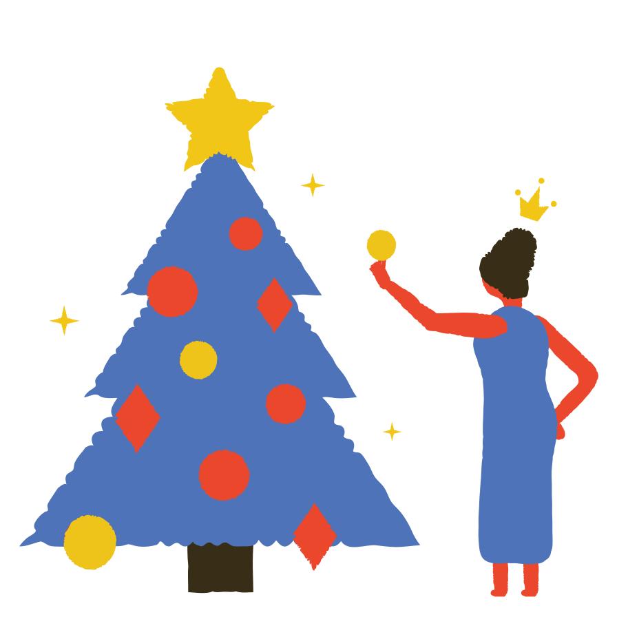 Decorate the Christmas tree Clipart illustration in PNG, SVG