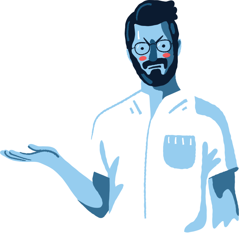 wondering man Clipart illustration in PNG, SVG