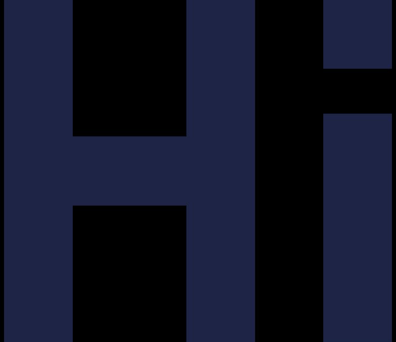 hi letters line Clipart illustration in PNG, SVG