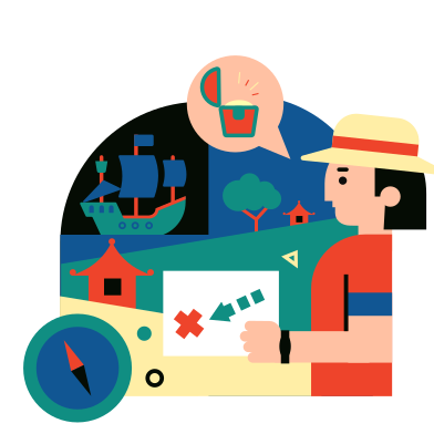 style Treasure hunt images in PNG and SVG | Icons8 Illustrations
