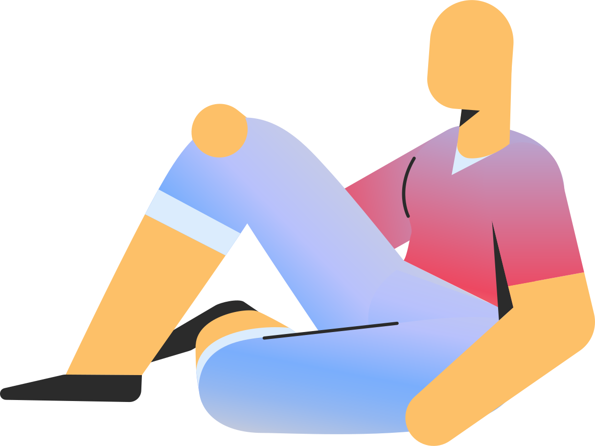 adult in shorts sitting Clipart illustration in PNG, SVG