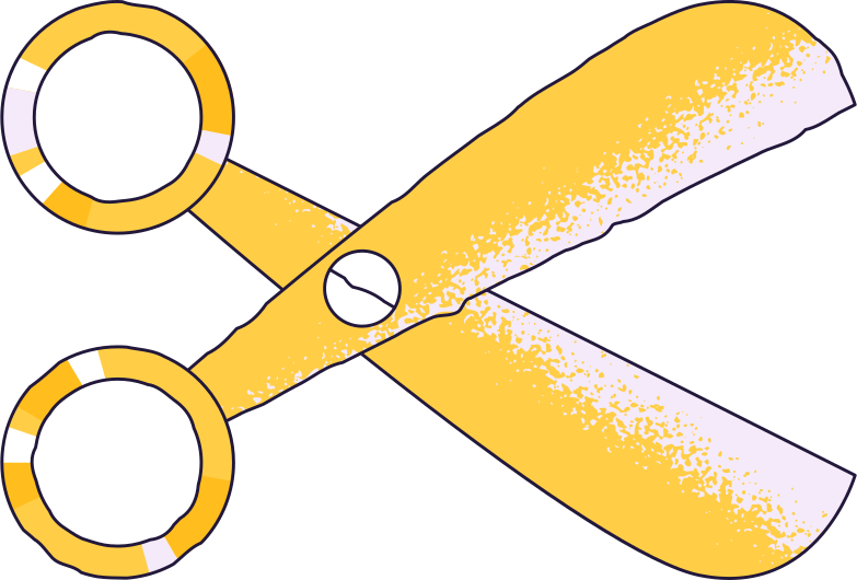 no connection  scissors Clipart illustration in PNG, SVG