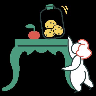 Imágenes de Tratando de conseguir una galleta estilo  en PNG y SVG | Ilustraciones Icons8