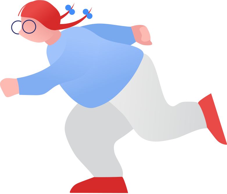 fat girl running Clipart illustration in PNG, SVG