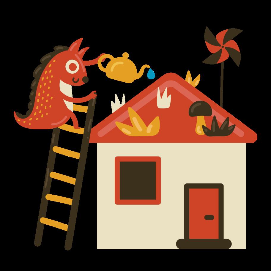 Rooftop garden Clipart illustration in PNG, SVG