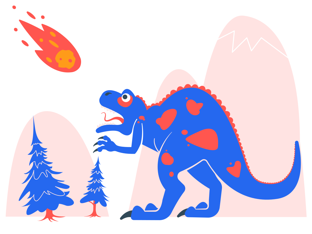 Dinasaurs' doomsday Clipart illustration in PNG, SVG