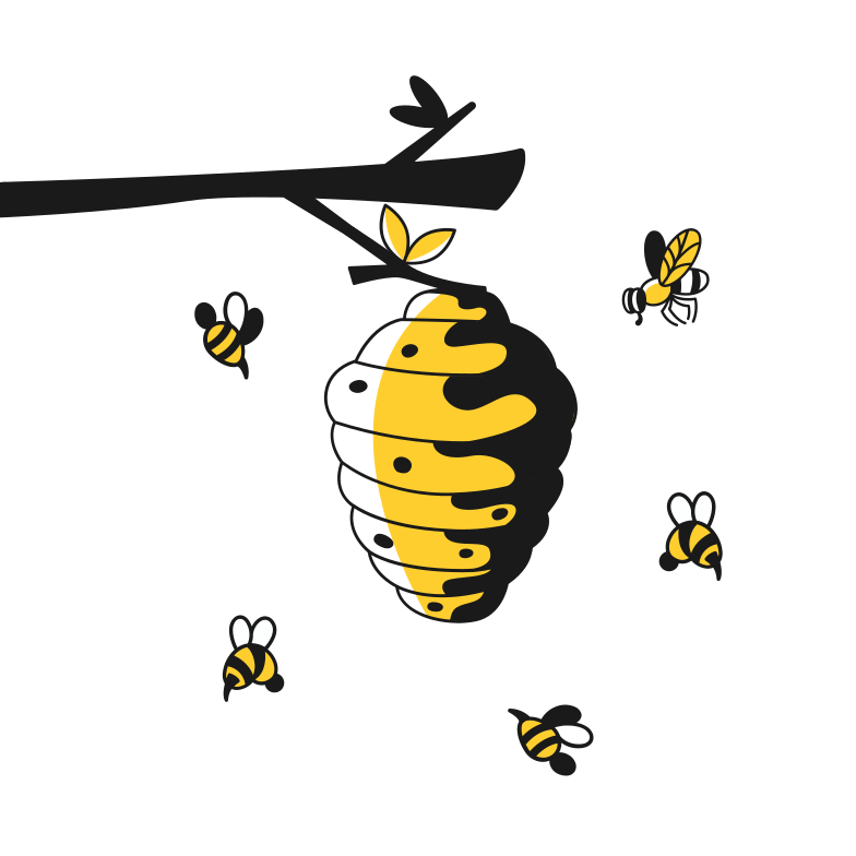 Hive Clipart illustration in PNG, SVG