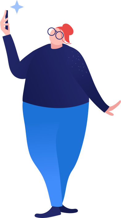 style fat woman making selfi images in PNG and SVG | Icons8 Illustrations