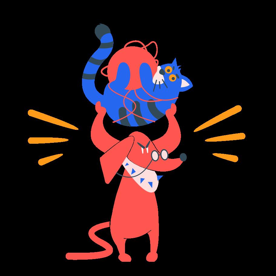 Pet wrestling Clipart illustration in PNG, SVG