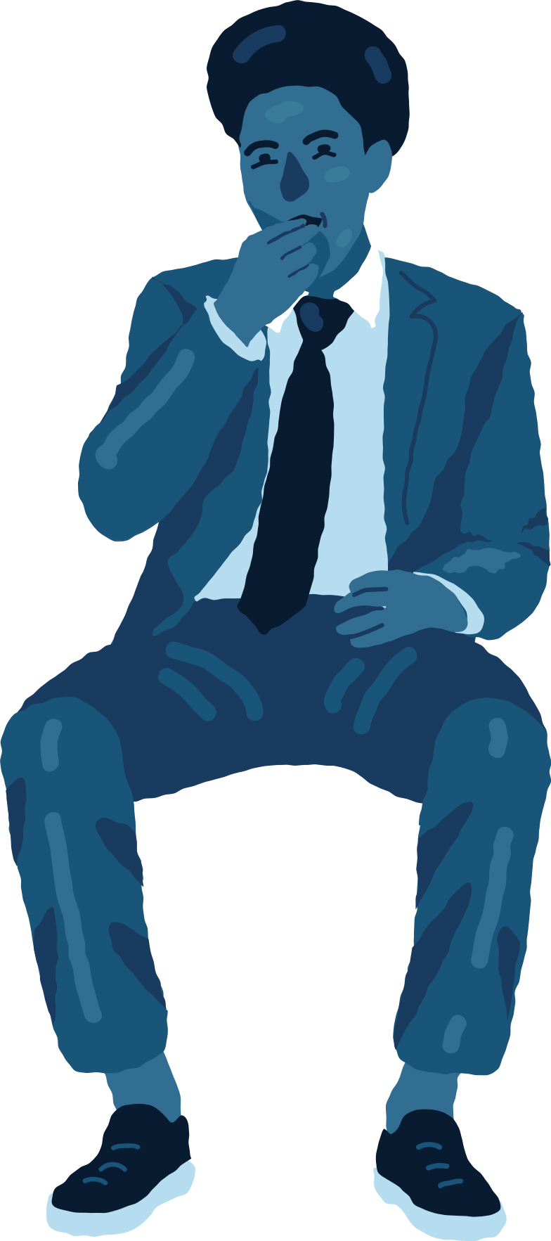 sitting man cinema Clipart illustration in PNG, SVG