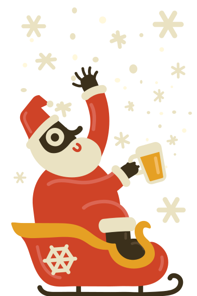 style Drunk Santa likes to catch some snowflakes images in PNG and SVG | Icons8 Illustrations