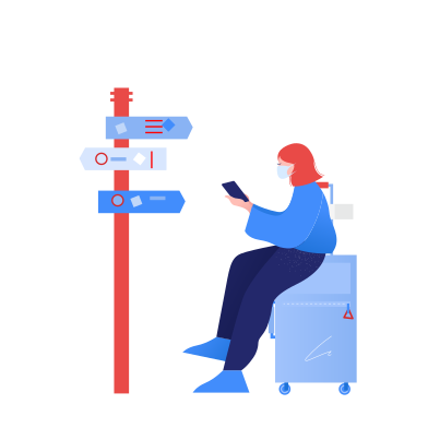 style Travelling during pandemic images in PNG and SVG | Icons8 Illustrations