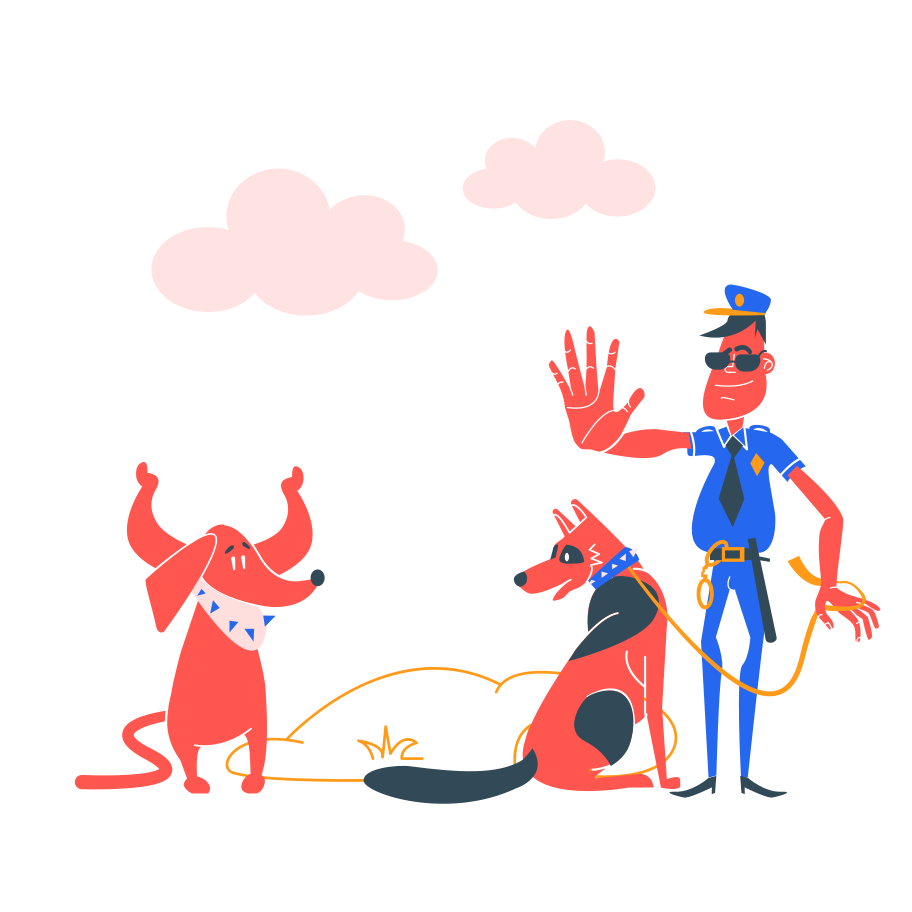 Police check Clipart illustration in PNG, SVG