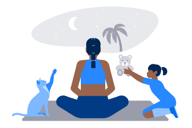style Trying to meditate images in PNG and SVG | Icons8 Illustrations