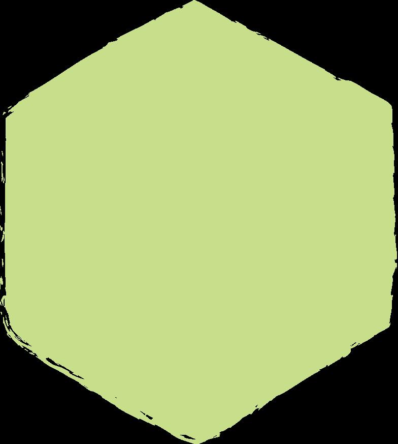 hexadon-light-green Clipart illustration in PNG, SVG