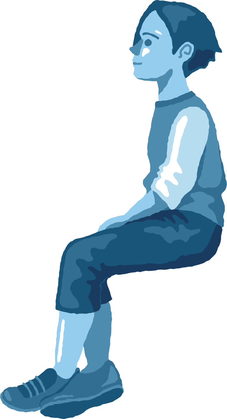style boy sitting profile Vector images in PNG and SVG | Icons8 Illustrations