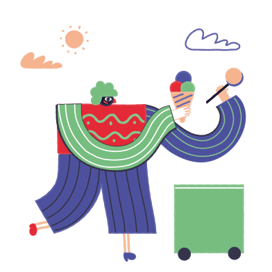 style Ice Cream Seller images in PNG and SVG | Icons8 Illustrations