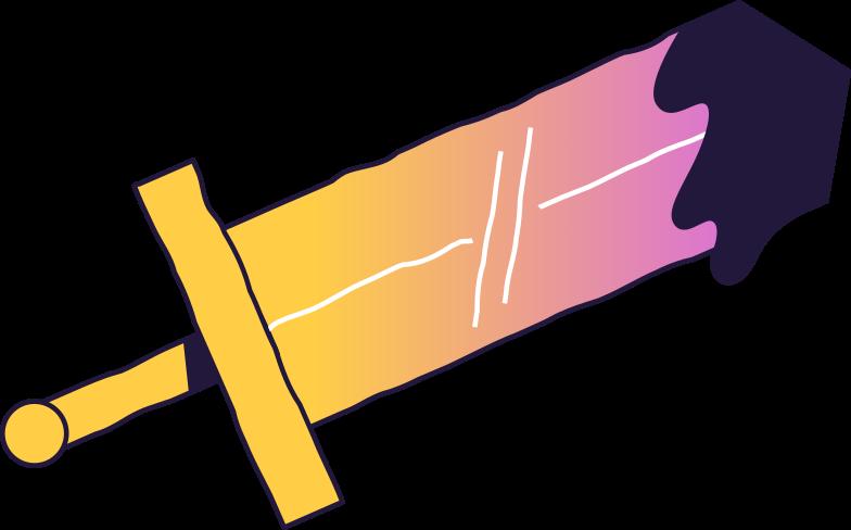 sword Clipart illustration in PNG, SVG