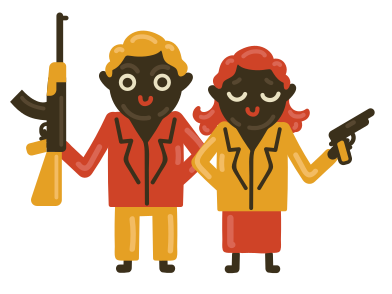style Bonnie and Clyde images in PNG and SVG | Icons8 Illustrations