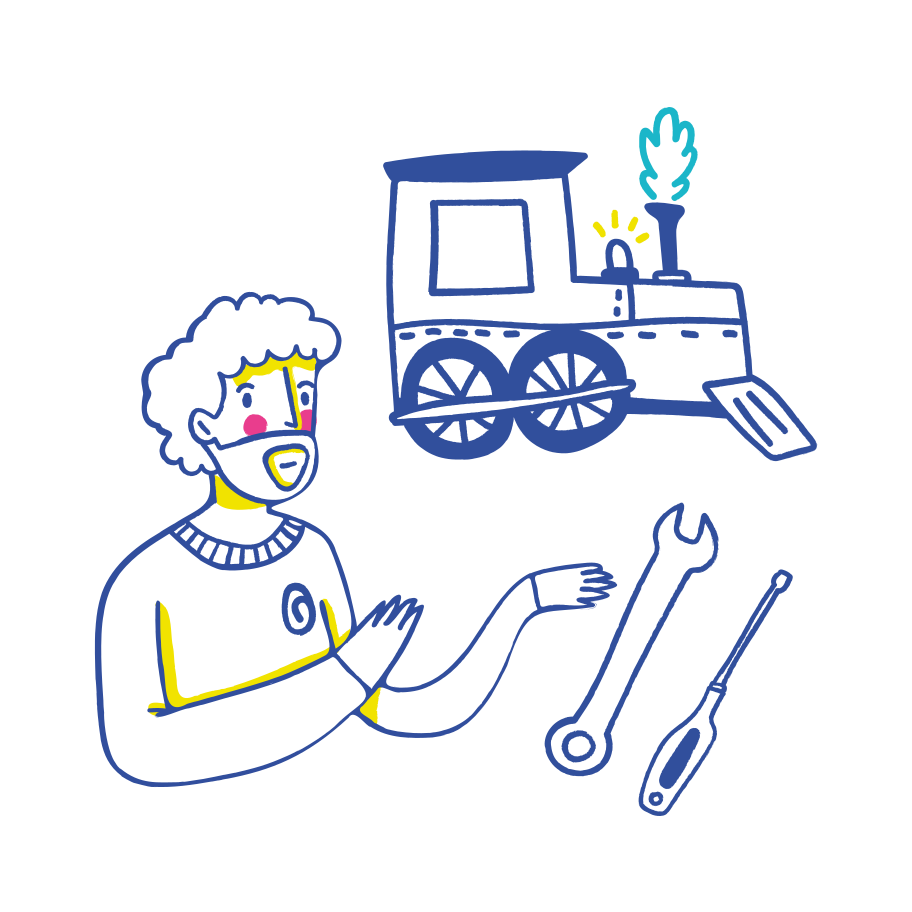Train mechanic Clipart illustration in PNG, SVG