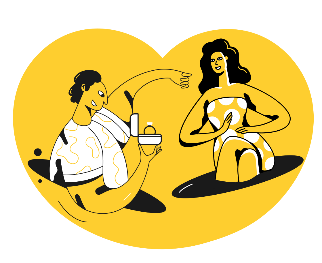 style Marriage proposal Vector images in PNG and SVG | Icons8 Illustrations