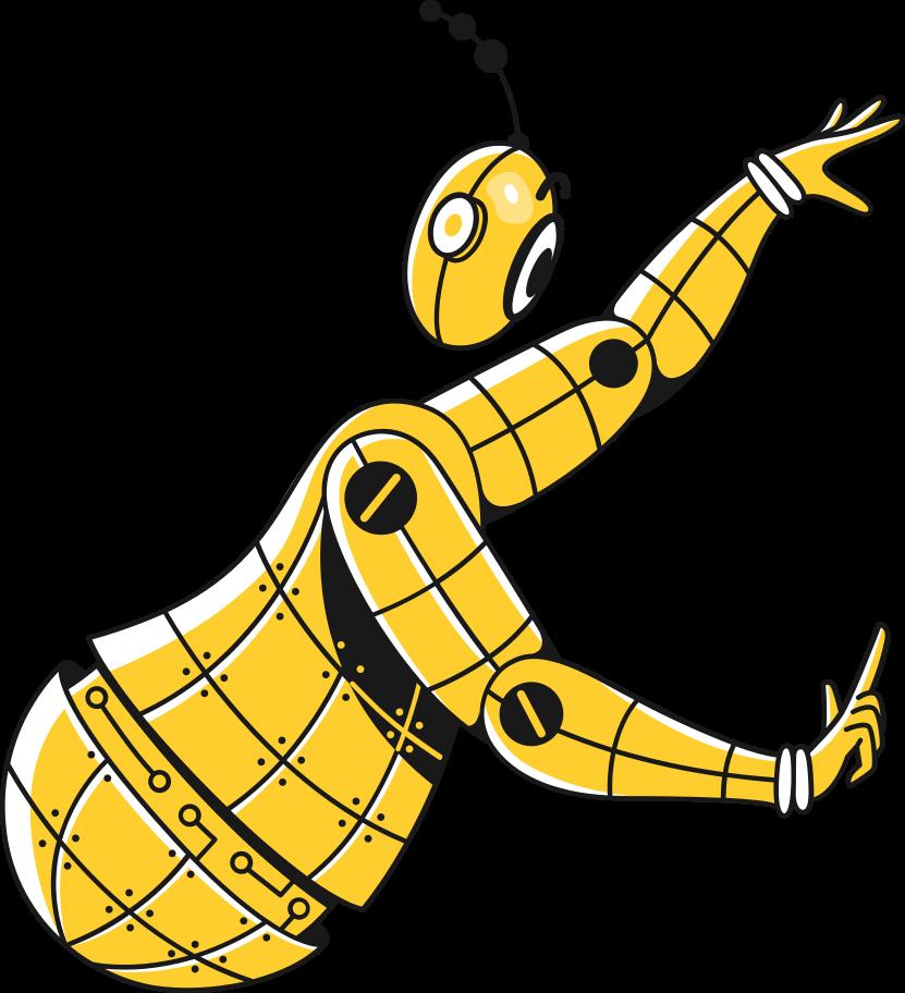 Ilustración de clipart de robot en PNG, SVG