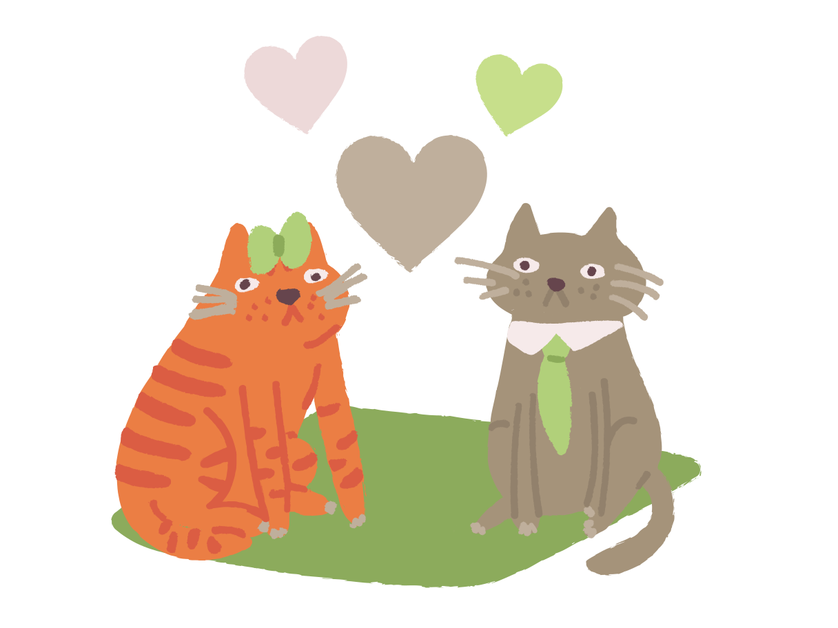 Cats love Clipart illustration in PNG, SVG