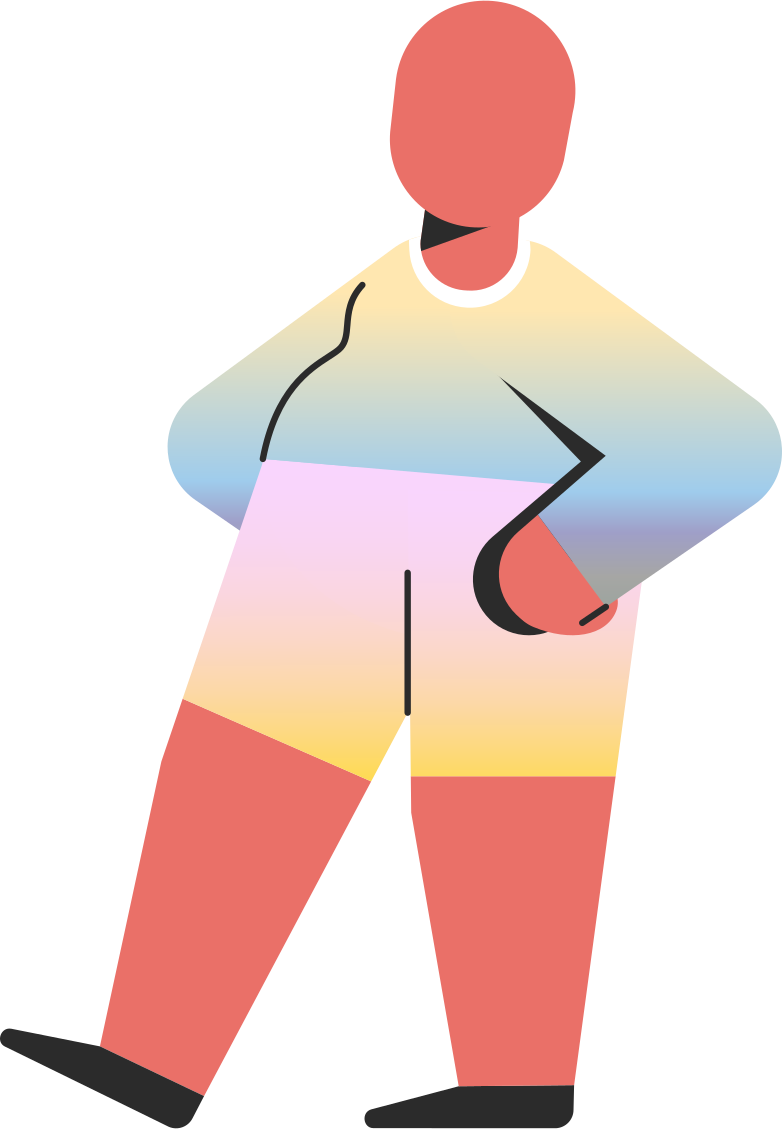chubby child standing Clipart illustration in PNG, SVG