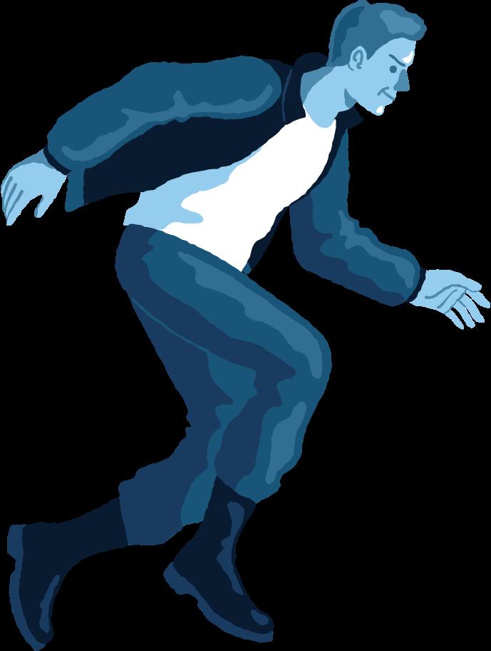 Illustration clipart Profil de saut homme aux formats PNG, SVG