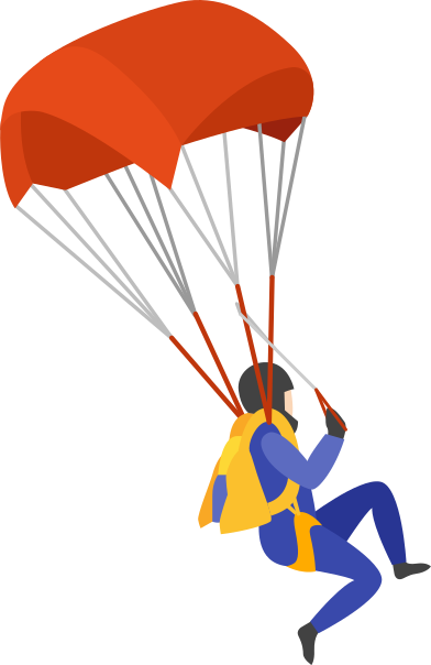 style parachute jumper images in PNG and SVG | Icons8 Illustrations